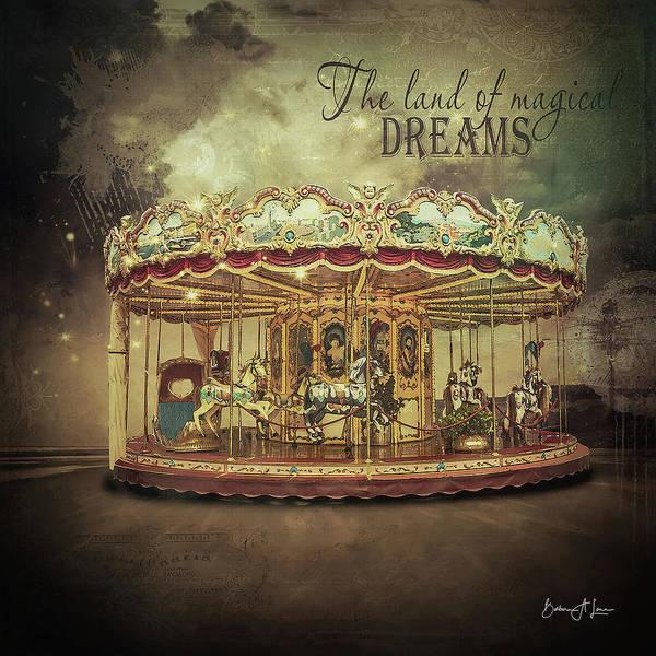 Carousel Art Print featuring the digital art Carousel Dreams by Barbara A Lane