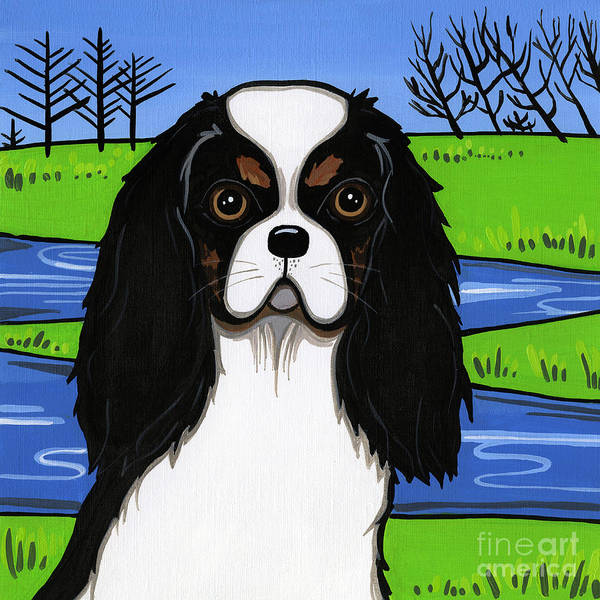 Cavs Art Print featuring the painting Cavalier King Charles Spaniel by Leanne Wilkes