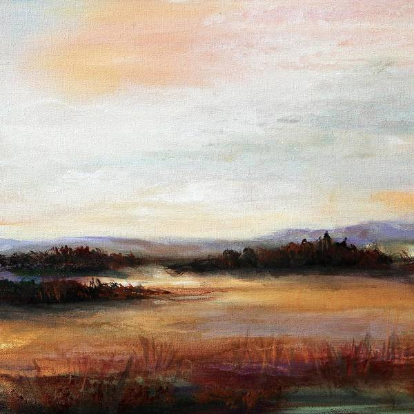 Modern Art Print featuring the painting Chasing Daylight by Karen Hale