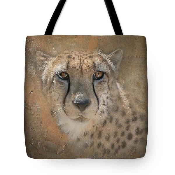 Hunter Art Print featuring the photograph Cheetah Tote by Teresa Wilson