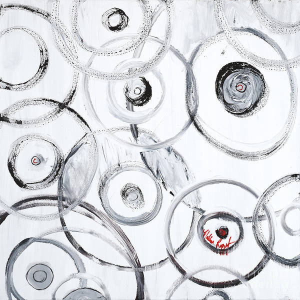 Circles Art Print featuring the painting Choices In White by Nadine Rippelmeyer
