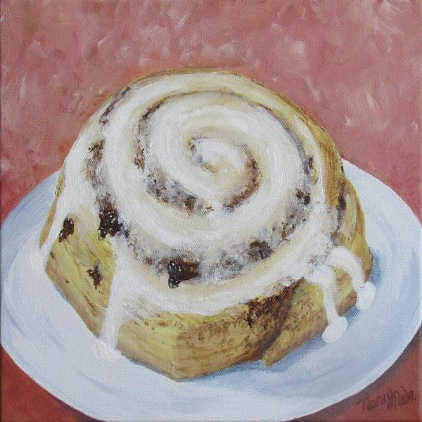 Cinnamon Roll Art Print featuring the painting Cinnamon Roll by Nancy Nale
