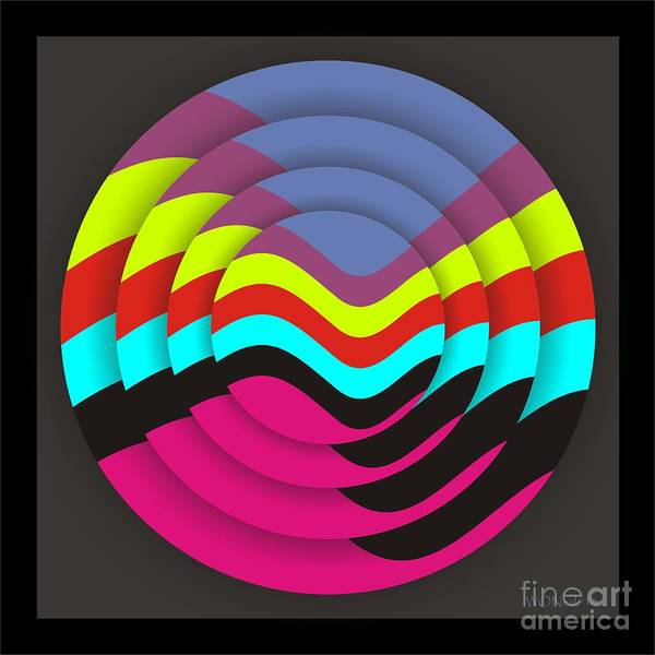 Abstract Art Print featuring the digital art Circadium by Walter Oliver Neal