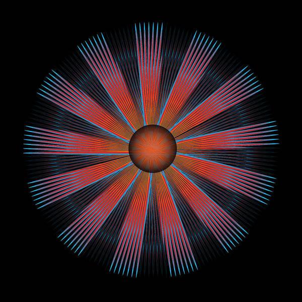 Multi-colored Art Print featuring the digital art Circle Study No. 330.1 by Alan Bennington