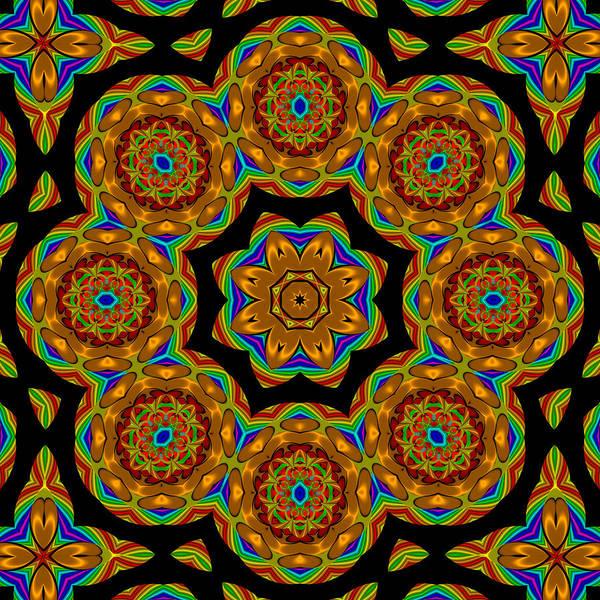 Circled Art Print featuring the digital art Circled Floral Mandala by Patricia Fatta