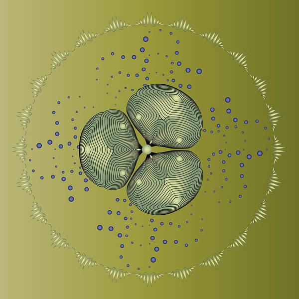Mandala Art Print featuring the digital art Circularity No 1574 by Alan Bennington