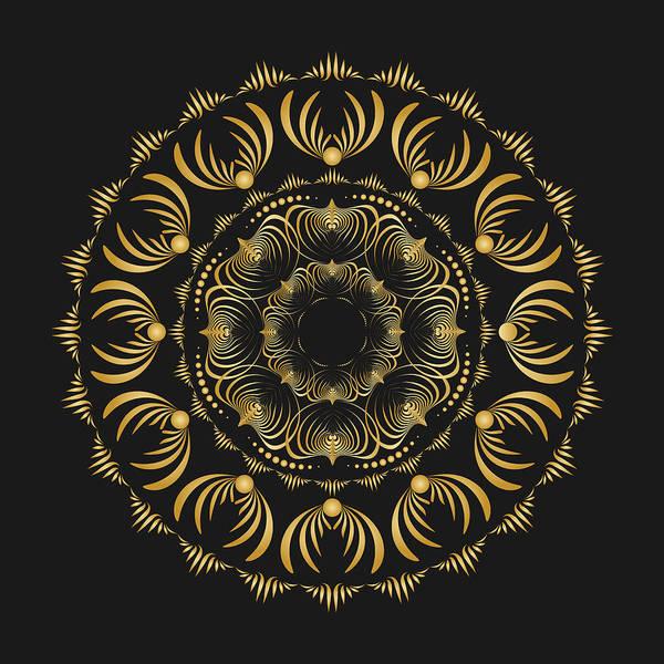 Mandala Art Print featuring the digital art Circularity No 1575 by Alan Bennington