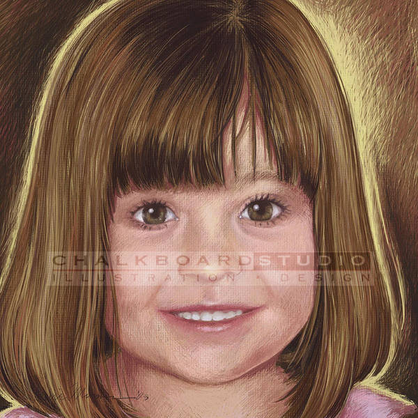 Portrait Art Print featuring the digital art Claire by Laurie Musser
