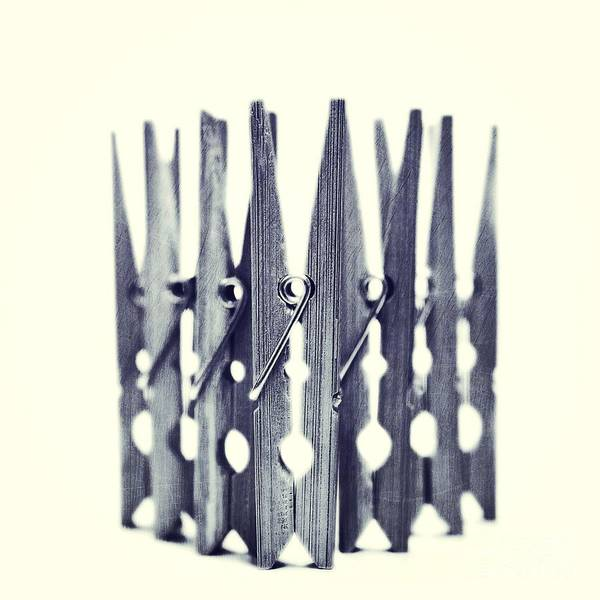 Clothespin Art Print featuring the photograph Clothespin by Priska Wettstein