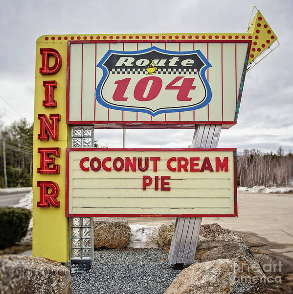 Diner Art Print featuring the photograph Coconut Cream Pie At The Route 104 Diner by Edward Fielding