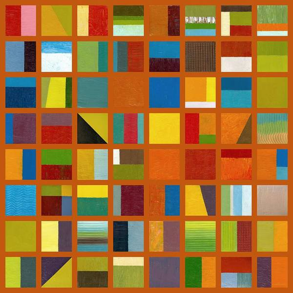 Abstract Art Print featuring the painting Color Study Collage 66 by Michelle Calkins