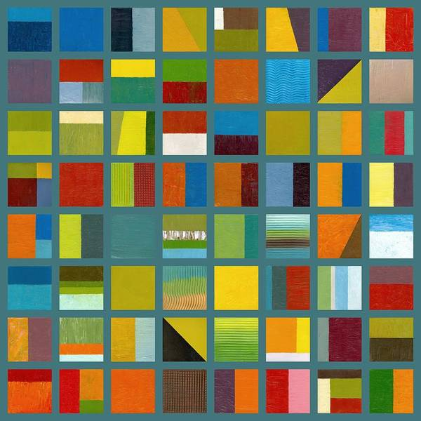 Abstract Art Print featuring the painting Color Study Collage 67 by Michelle Calkins