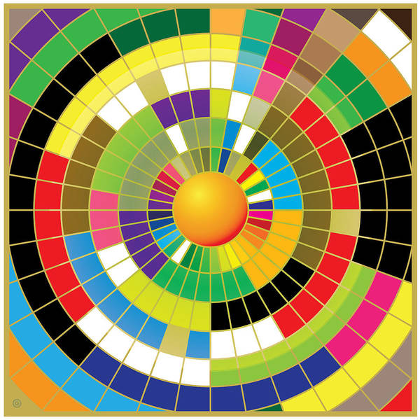 Modern Art Art Print featuring the painting Color Wheel by Gary Grayson