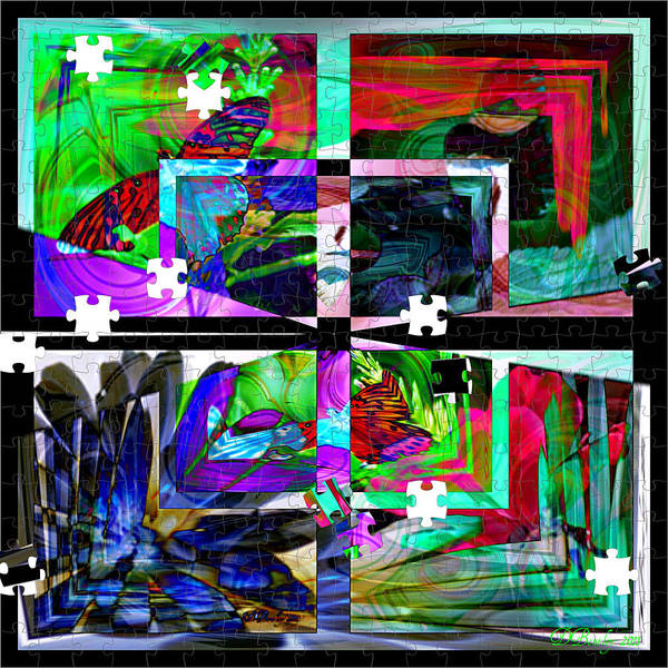 Abstract Art Art Print featuring the photograph Confused by Donna Bentley