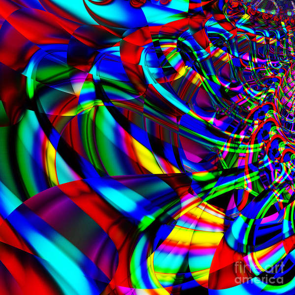 Fractal Art Print featuring the digital art Contradictions . S14.s15 by Wingsdomain Art and Photography