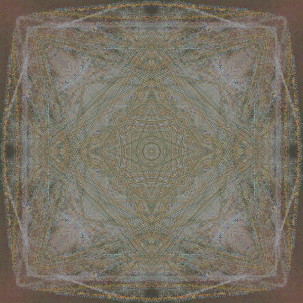 Symmetrical Art Print featuring the digital art Convergence 5-30-2015 - #2 by Steven Harry Markowitz