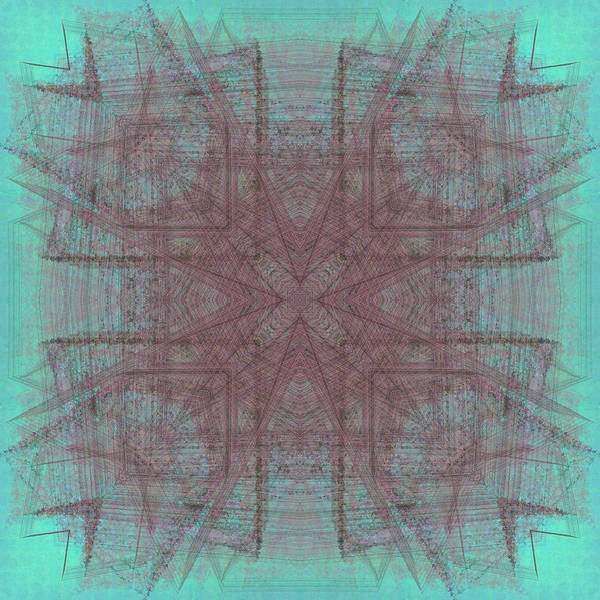 Abstract Art Print featuring the digital art Convergence 5-30-2015 #3 by Steven Harry Markowitz