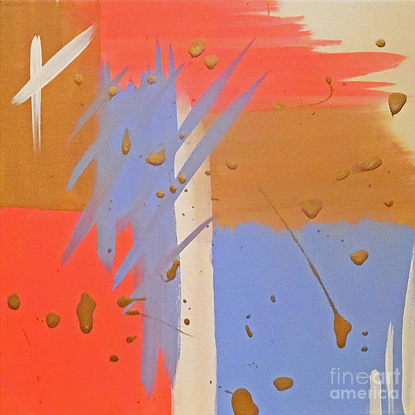 Abstract Gold Pink Art Print featuring the painting Cotton Candy by Jilian Cramb - AMothersFineArt