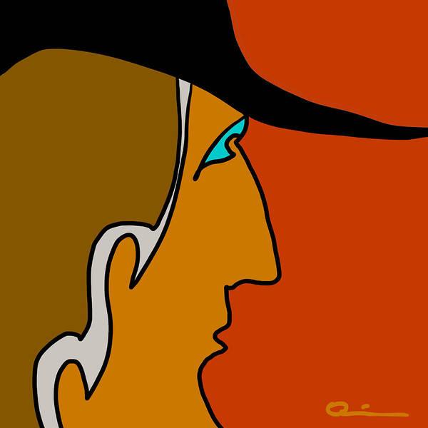 Quiros Art Print featuring the digital art Cowboy by Jeff Quiros