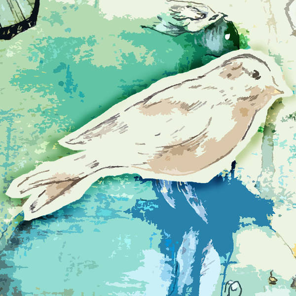 Bird Art Print featuring the painting Cut-out by Cara Maler