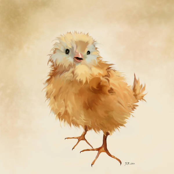 Chick Art Print featuring the painting Cute Chick by Bamalam Photography