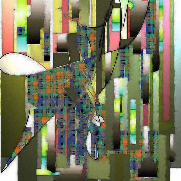 Digital Art Print featuring the digital art Dancing In Aquarelle by Ilona Burchard