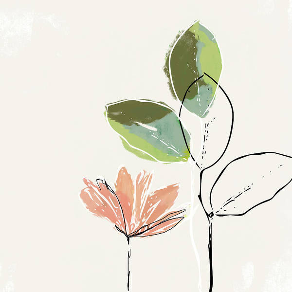 Flower Art Print featuring the mixed media Delicate Flower- Art By Linda Woods by Linda Woods