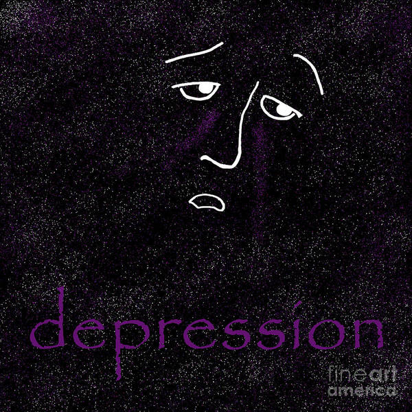 Depression Art Print featuring the digital art Depression by Methune Hively