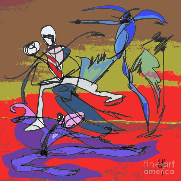 Desert Art Print featuring the mixed media Desert Dance by Anthe Capitan-Valais