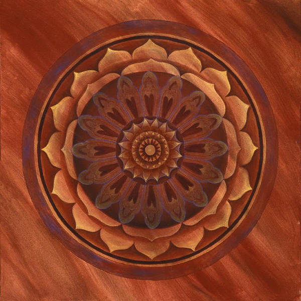 Mandala Art Print featuring the painting Desert Wind by Charlotte Backman