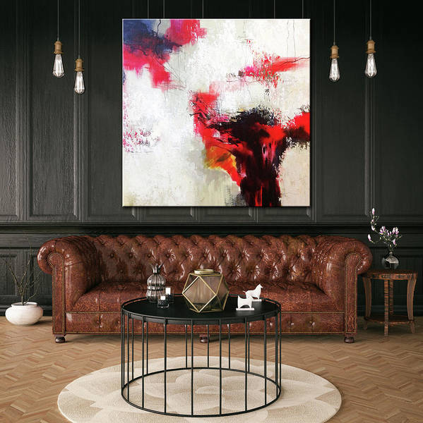 Abstract Painting Art Print featuring the painting Devotion by Sergio Anisimov