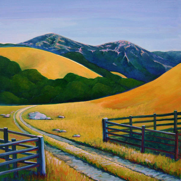 Landscape Art Print featuring the painting Diablo View by Stephanie Maclean
