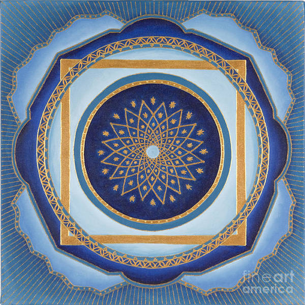 Mandala Art Print featuring the painting Divine Feminine - Cathedral Series by Charlotte Backman