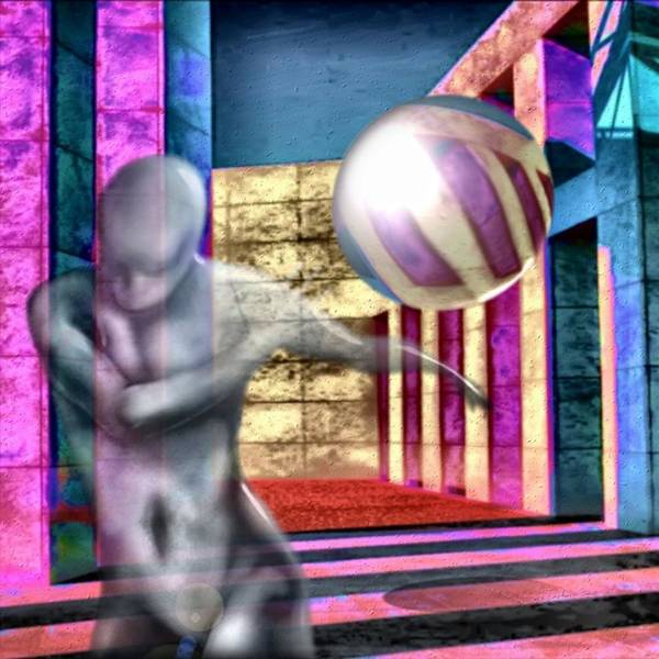 Playground Game Ball Colors Art Print featuring the digital art Dream Play by Veronica Jackson