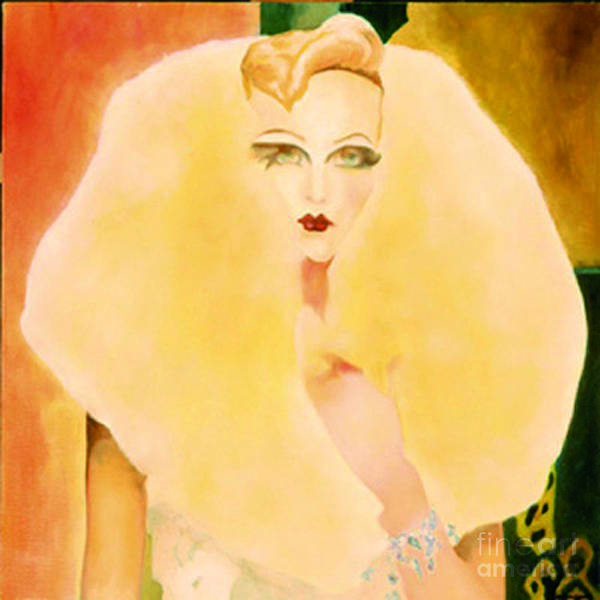Art Print featuring the painting Ecrin by Krzis-Lorent Frederique