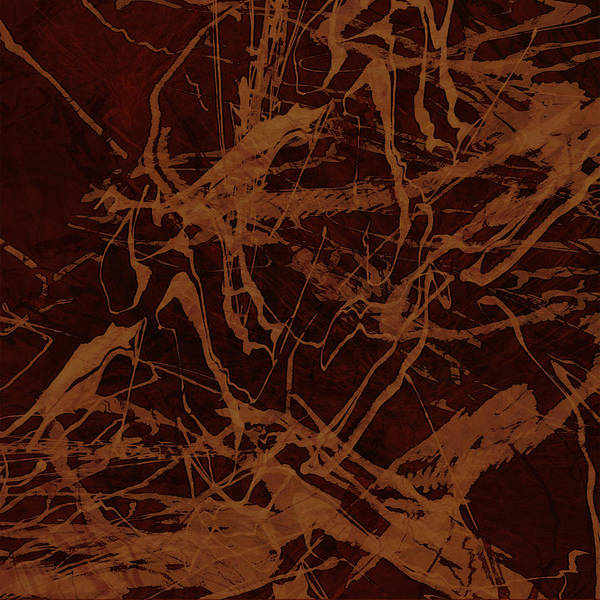 Abstract Art Print featuring the digital art Edition 1 Rust by Kristin Doner