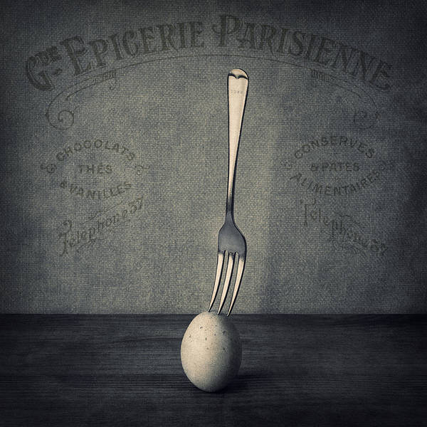 Egg Art Print featuring the photograph Egg And Fork by Ian Barber