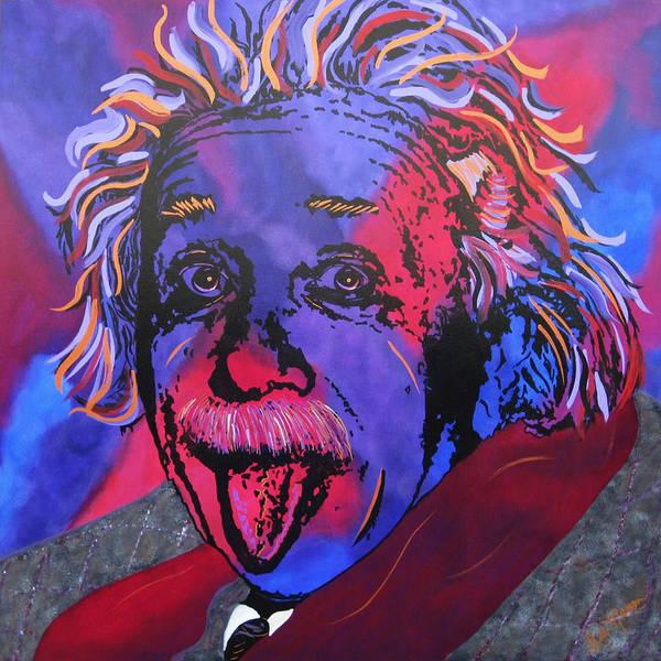 Einstein Paintings Print featuring the painting Einstein-professor by Bill Manson