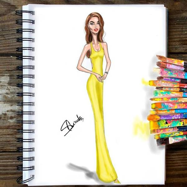 Illustration Art Print featuring the drawing Eiza by Nicole Sorgoni