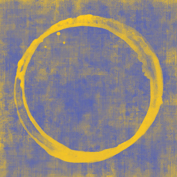 Circle Print featuring the painting Enso 1 by Julie Niemela