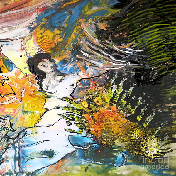 Miki Art Print featuring the painting Erotype 07 2 by Miki De Goodaboom