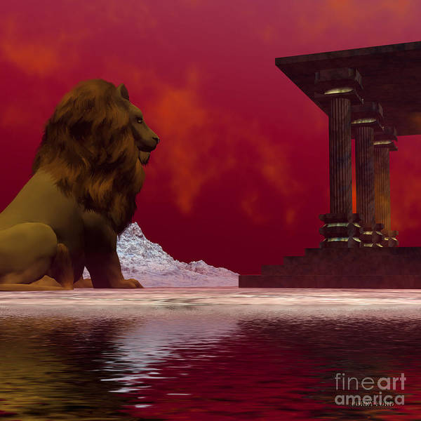 Lion Art Print featuring the painting Fantasisms by Corey Ford