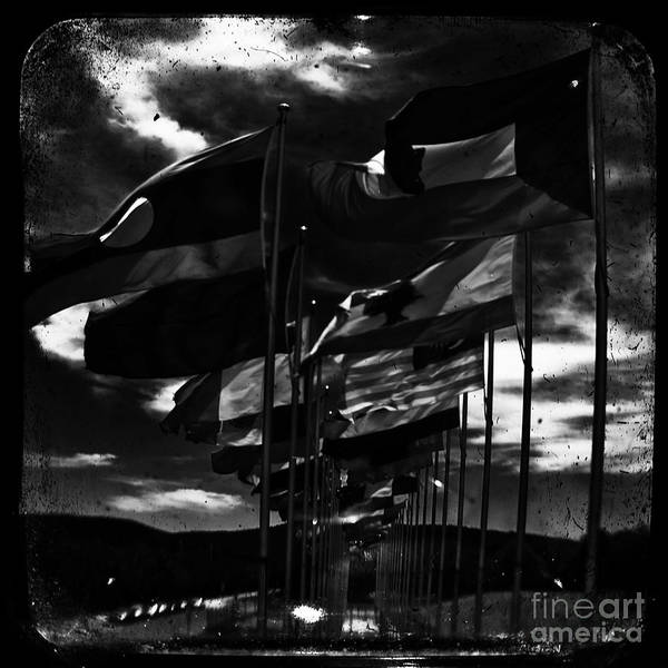 Admarshall Art Print featuring the photograph Flags by AD Marshall
