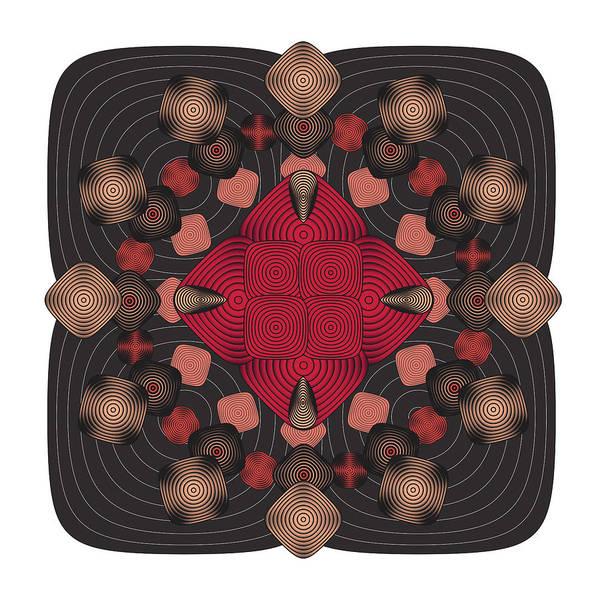 Abstract Art Print featuring the digital art Fleuron Composition No. 157 by Alan Bennington