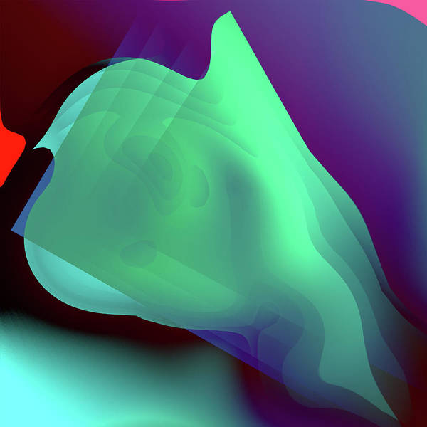 Series Art Print featuring the digital art Flower Pedal Teal One by Benjamin Nelson