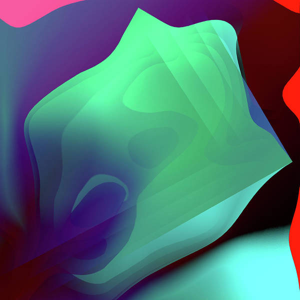 Flower Art Print featuring the digital art Flower Pedal Teal Two by Benjamin Nelson