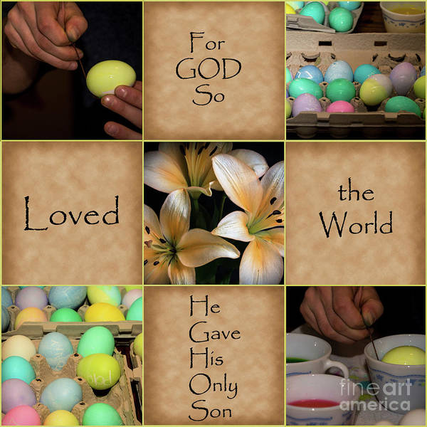 Easter Art Print featuring the photograph For God So... by Deborah Klubertanz
