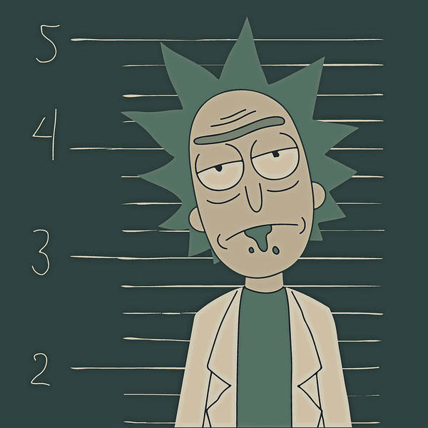 Rick And Morty Art Print featuring the digital art Free Rick by Rick And Morty