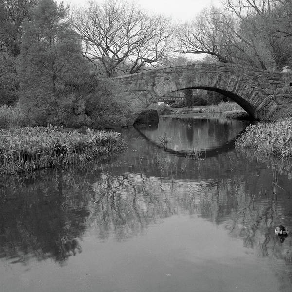 Square Print featuring the photograph Gapstow Bridge - Central Park - New York City by Holden Richards