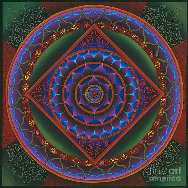 Mandala Art Print featuring the painting Gather The Women by Charlotte Backman